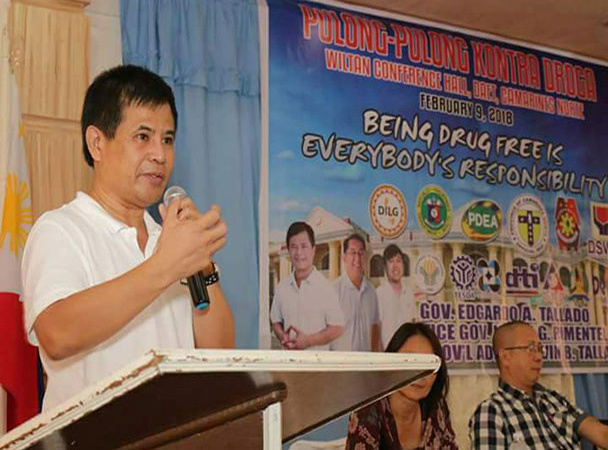 Gobernador Edgardo Tallado: 200,000 pisong pabuya sa makakapagturo sa pumaslang kay Agent Barba