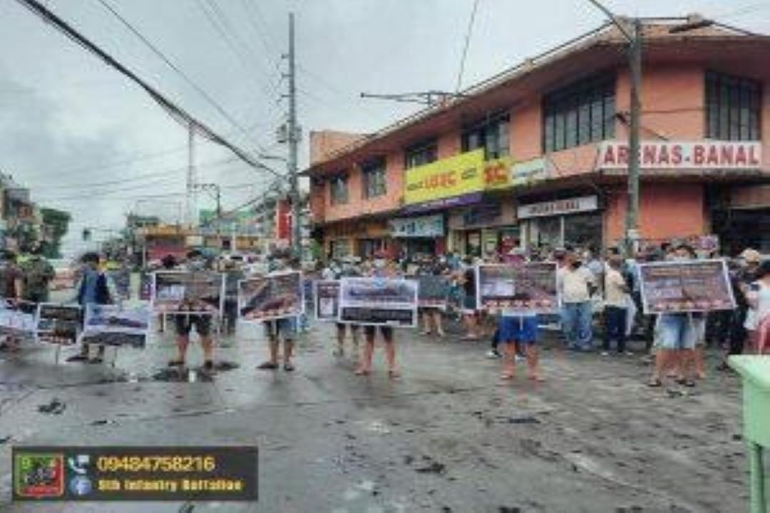 KILOS PROTESTA BILANG PAGKUNDENA SA MGA KARAHASAN NG CPP-NPA, ISINAGAWA SA BAYAN NG DAET!