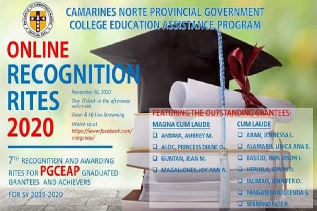 7th RECOGNITION AND AWARDING RITES FOR PGCEAP GRADUATE GRANTEES AND ACHIEVERS, IDARAOS ONLINE