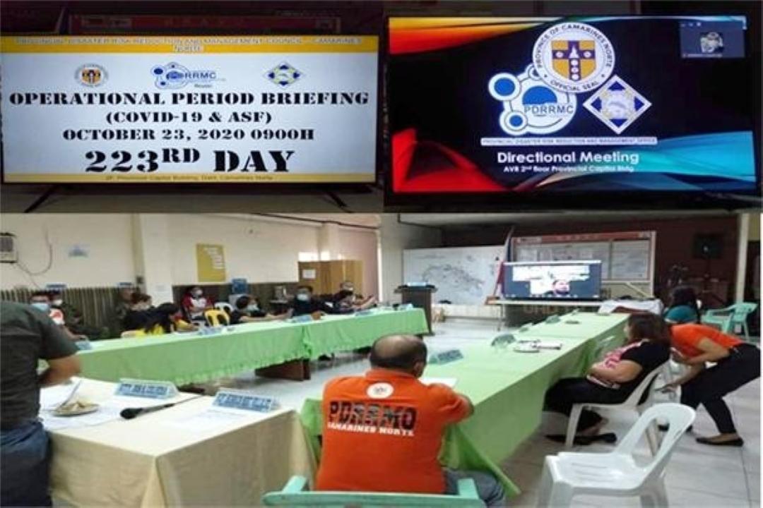 COVID-19, ASF OPERATIONAL PERIOD BRIEFING, AT PAGHAHANDA SA BAGYONG QUINTA, ISINAGAWA NG PGCN