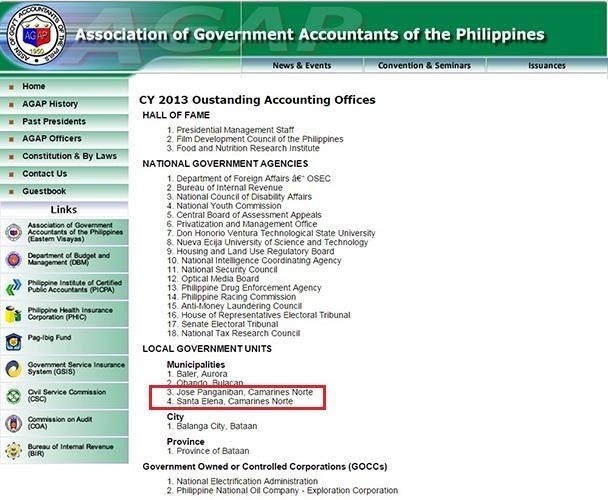 BAYAN NG JOSE PANGANIBAN, AT STA. ELENA, GINAWARAN BILANG ISA SA OUTSTANDING ACCOUNTING OFFICES SA BUONG PILIPINAS!