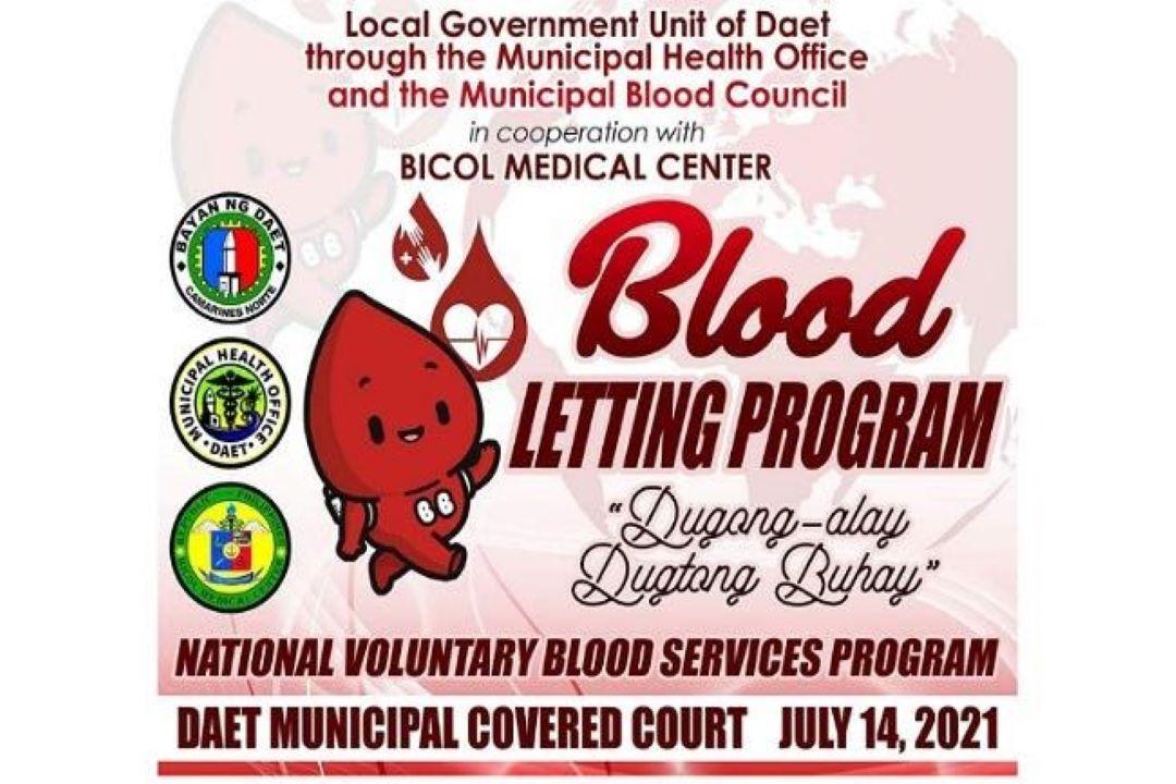 BLOOD LETTING ACTIVITY, DINAGSA NG MARAMING MAMAMAYAN SA DAET, CAMARINES NORTE