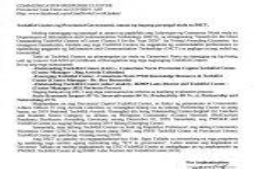TECH4ED CENTERS NG CAMARINES NORTE, MULING TUMANGGAP NG PARANGAL MULA SA DICT