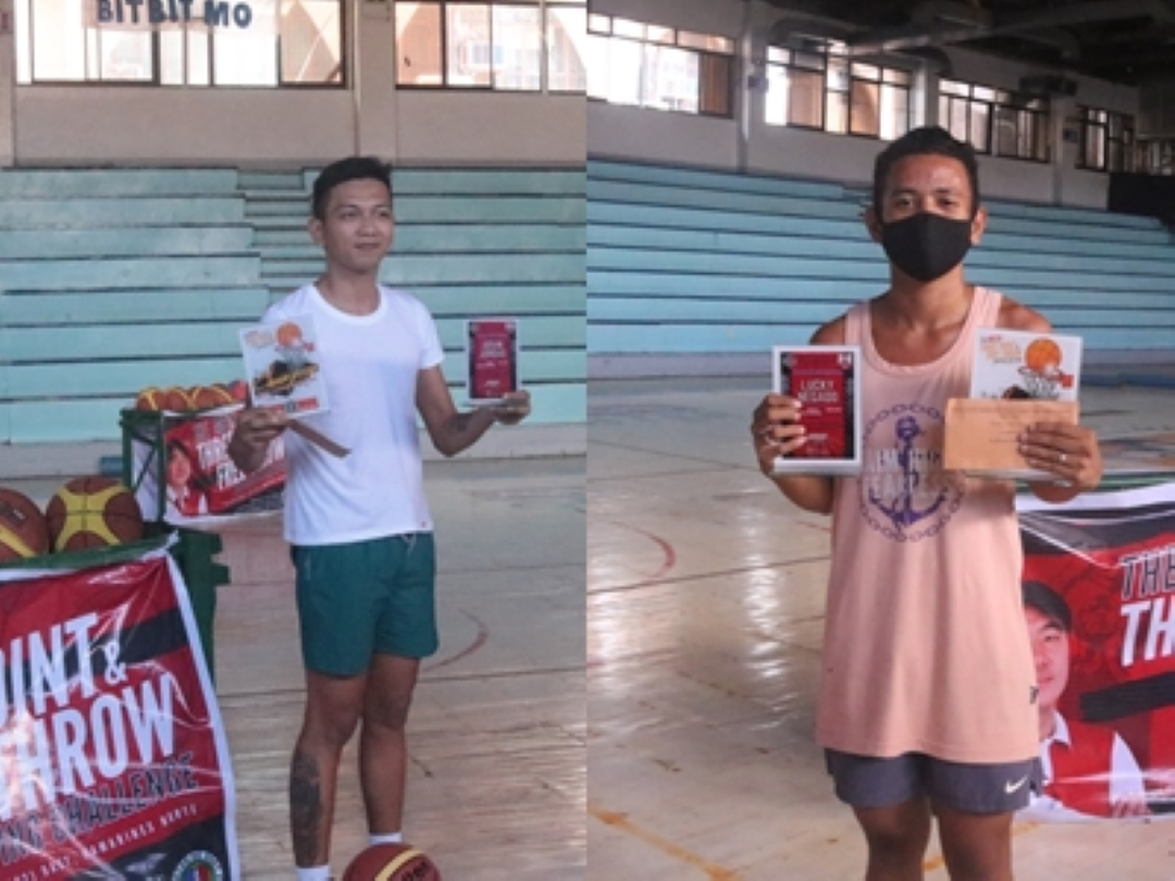 BARANGAY IV PLAYERS BAGS AWARD DURING THE MB2K FREE-THROW AND THREE-POINT SHOOTING CHALLENGE CHAMPIONSHIP